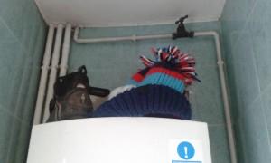 hat on boiler